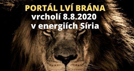 Sophie Bashford: PORTÁL LVÍ BRÁNA vrcholí 8.8.2020 v energiích Síria