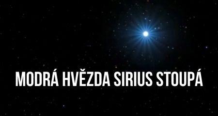 MODRÁ HVĚZDA SIRIUS STOUPÁ