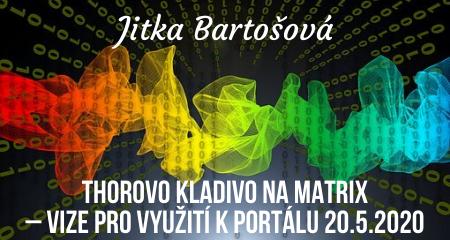 Jitka Bartošová: Thorovo kladivo na matrix – vize pro využití k portálu 20.5.2020