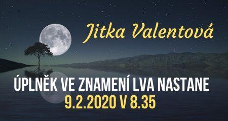 Jitka Valentová: Úplněk ve znamení Lva nastane 9.2.2020 v 8.35