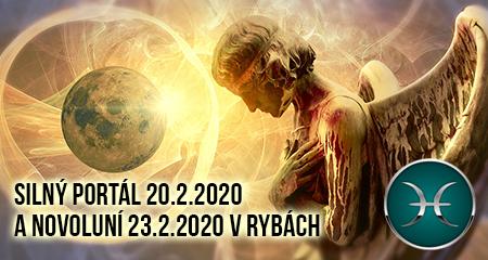Jitka Valentová: Silný portál 20.2.2020 a Novoluní 23.2.2020 v Rybách