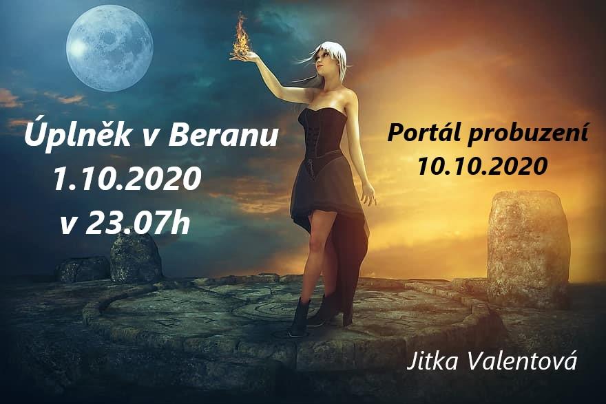 Jitka Valentová: Úplněk ve znameníBerana 1.10.2020