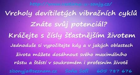 Soňa Sofi: NUMEROLOGIE - Vrcholy devítiletých vibračních cyklů